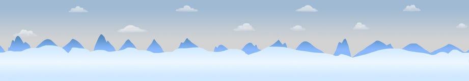 Paisagem panorâmico do Polo Norte Imagem de Stock
