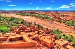 Paisagem perto da vila de Ait Ben Haddou em Marrocos Imagem de Stock