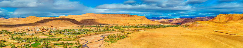 Paisagem perto da vila de Ait Ben Haddou em Marrocos Fotos de Stock