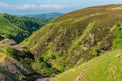 Paisagem perto de Aled Isaf Reservoir, Clwyd de Galês, Gales, Reino Unido imagens de stock royalty free