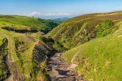 Paisagem perto de Aled Isaf Reservoir, Clwyd de Galês, Gales, Reino Unido fotografia de stock