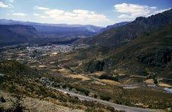 Paisagem perto de Chivay, Peru fotos de stock royalty free