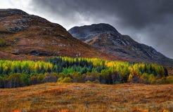 Paisagem perto do Loch Garry Fotos de Stock Royalty Free