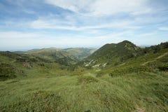 Paisagem pirenaica em Ariege, Occitanie no sul de França Fotos de Stock Royalty Free