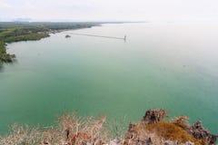 Paisagem pitoresca do mar, ilha de Libong Fotografia de Stock