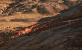A paisagem pitoresca nas montanhas, nascer do sol do outono Imagens de Stock