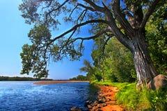 Paisagem Portage de Wisconsin River Foto de Stock Royalty Free