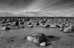 Paisagem preto e branco Foto de Stock Royalty Free