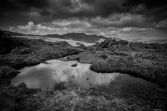 Paisagem preto e branco da montanha Imagens de Stock Royalty Free