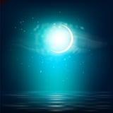 Paisagem realística da noite Imagens de Stock Royalty Free