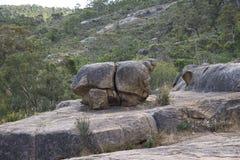 Paisagem rochosa de John Forrest National Park fotos de stock royalty free