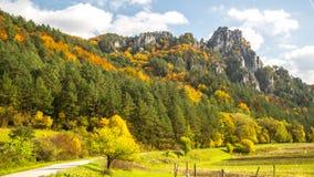 A paisagem romântica do Sulov balança, Eslováquia Fotos de Stock Royalty Free