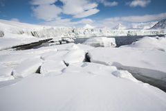 Paisagem ártica do inverno Imagens de Stock Royalty Free