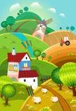 Paisagem rural ilustração royalty free