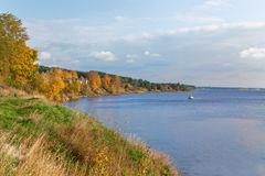 Paisagem rural bonita do outono dourado Fotos de Stock Royalty Free