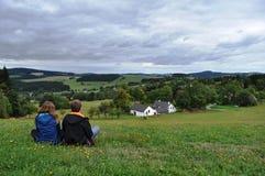 Paisagem rural checa fotos de stock royalty free