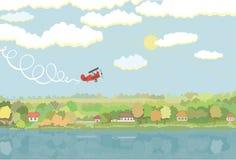 Paisagem rural com aviões Fotografia de Stock