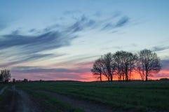 Paisagem rural da arte Imagens de Stock Royalty Free