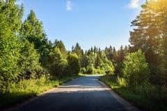 Paisagem rural da estrada Imagens de Stock