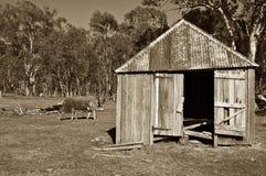 Paisagem rural da exploração agrícola velha foto de stock