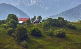 Paisagem rural da montanha, a Transilvânia, Romênia Fotos de Stock Royalty Free