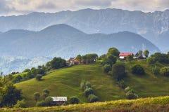 Paisagem rural da montanha, a Transilvânia, Romênia Imagens de Stock Royalty Free