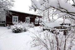 Paisagem rural do inverno fotos de stock royalty free