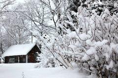 Paisagem rural do inverno, casa foto de stock royalty free
