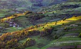 Paisagem rural do monte da mola verde, Eslováquia Foto de Stock Royalty Free