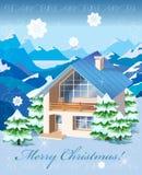 Paisagem rural do Natal ilustração stock