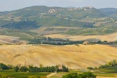 Paisagem rural em Toscana Fotografia de Stock Royalty Free