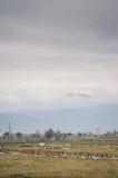 Paisagem rural no clima de tempestade Fotografia de Stock