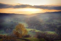 Paisagem rural no por do sol Imagem de Stock Royalty Free