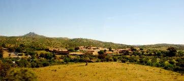Paisagem rural panorâmico no movimento Fotografia de Stock