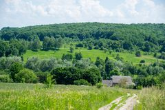 Paisagem rural verde imagens de stock