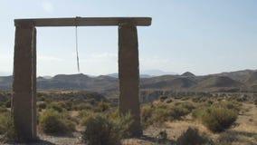 Paisagem só do deserto no meio das montanhas 120fps video estoque