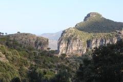 Paisagem selvagem de Sardinia com floresta e montanhas - Italia fotos de stock