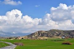 Paisagem selvagem em Chipre fotografia de stock