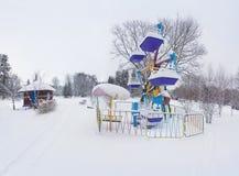 Paisagem Snow-covered no parque Foto de Stock