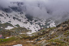 Paisagem sombrio da montanha Fotografia de Stock