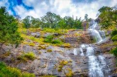 Paisagem sonhadora de uma cachoeira Imagens de Stock Royalty Free