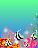 Paisagem subaquática ilustração royalty free