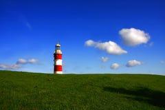 Paisagem surpreendente com farol, Plymouth, Reino Unido fotografia de stock royalty free