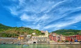 Paisagem surpreendente de Cinque Terre Fotografia de Stock Royalty Free
