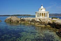 Paisagem surpreendente do farol de St Theodore em Argostoli, Kefalonia, Grécia Imagens de Stock