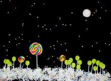 Paisagem surreal dos doces Imagens de Stock