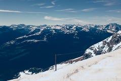 Paisagem switzerland do panorama da montanha do inverno Fotos de Stock