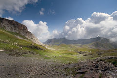 Paisagem típica da montanha Fotos de Stock Royalty Free