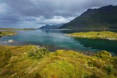 Paisagem típica de Noruega do norte imagem de stock