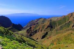 Paisagem Tenerife do parque de Teno fotografia de stock royalty free